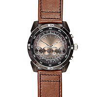 Light brown oversized watch