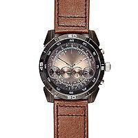 Light brown oversized watch