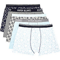 Blue mixed RI boxer shorts pack