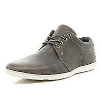 Grey slim trainers
