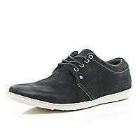 Navy blue slim trainers