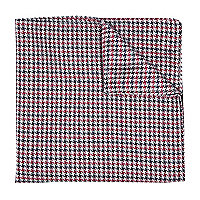 Red dogtooth pocket square