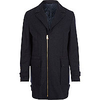 Navy Design Forum wool pea coat