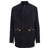 Navy Design Forum suede jacket