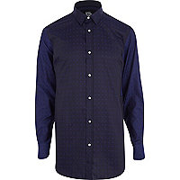 Navy Design Forum polka dot shirt