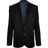 Black formal ponti blazer