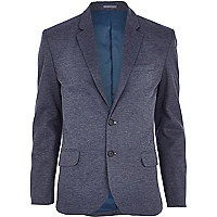 Blue marl jersey blazer