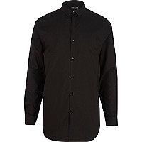 Black longer length shirt