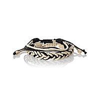 Black woven bracelet pack