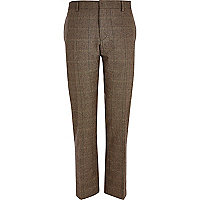 Light brown check smart trousers