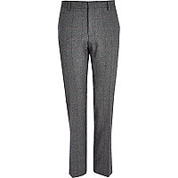Grey check smart trousers