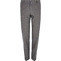 Grey smart skinny trousers