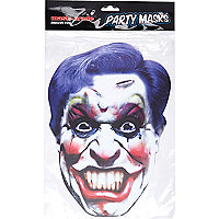 White Halloween joker mask