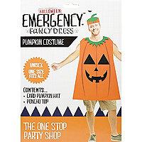 Orange Halloween skeleton pumpkin costume