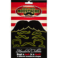 Glow in the dark moustaches