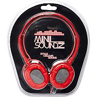 Fluro red Mini Soundz headphones