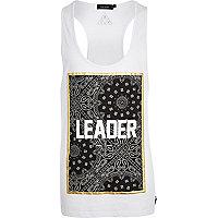 White leader paisley print vest