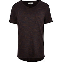 Rust marl low scoop t-shirt