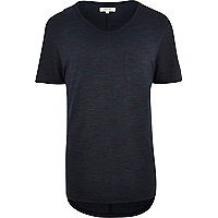 Teal marl low scoop t-shirt