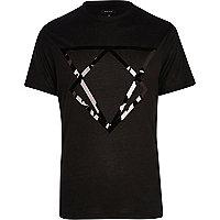 Black mirrored triangle print t-shirt