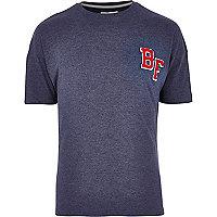 Navy Bellfield motif t-shirt