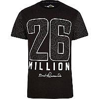 Black 26 Million paisley print t-shirt