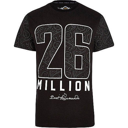 Black 26 Million paisley print t-shirt