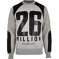Grey 26 Million mesh panel sweatshirt