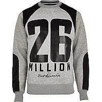 Grey 26 Million mesh panel sweatshirt
