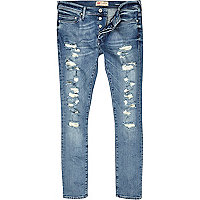 Light wash ripped Danny superskinny jeans