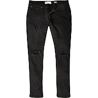 Black ripped Sid skinny stretch jeans