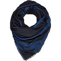 Navy Design Forum geometric print scarf