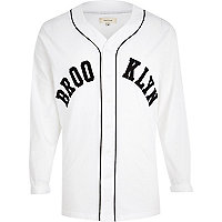 White Brooklyn baseball t-shirt