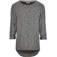 Dark grey roll sleeve t-shirt