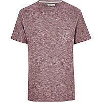 Dark red slub t-shirt