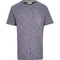 Dark blue slub t-shirt