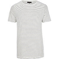 Ecru stripe short sleeve t-shirt