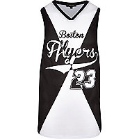 Black Boston Flyers 23 print mesh vest