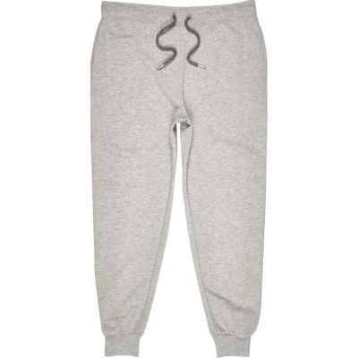 Grey marl jogger trousers