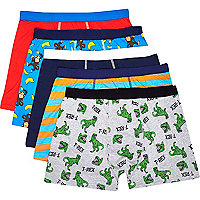 Mixed monkey and dinosaur boxer shorts pack