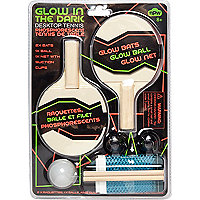 Glow in the dark ping pong