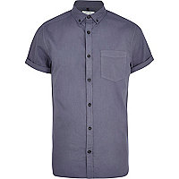 Blue stone wash Oxford shirt