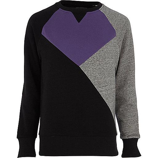Purple Antioch colour block sweatshirt