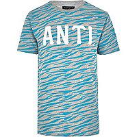 Grey Antioch zebra print t-shirt