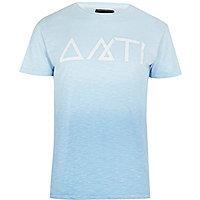 Blue Antioch symbol print t-shirt