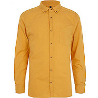 Mustard yellow Oxford shirt