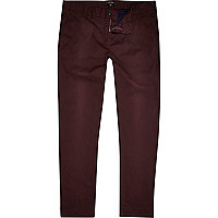 Dark red skinny chinos