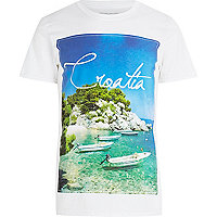White Croatia print t-shirt