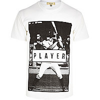 White player print t-shirt