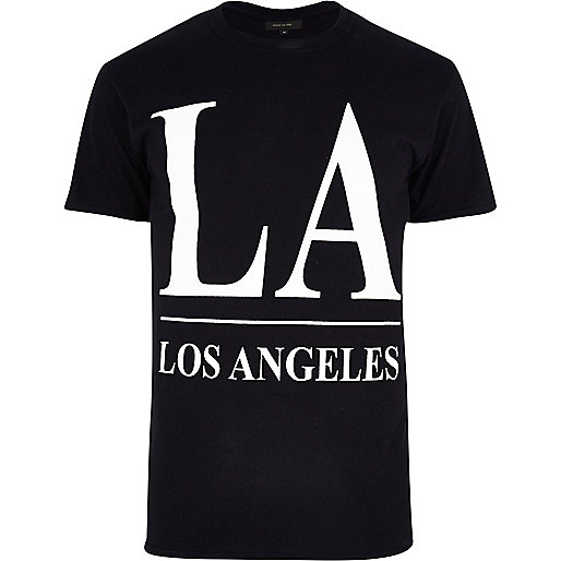 Black LA print t-shirt